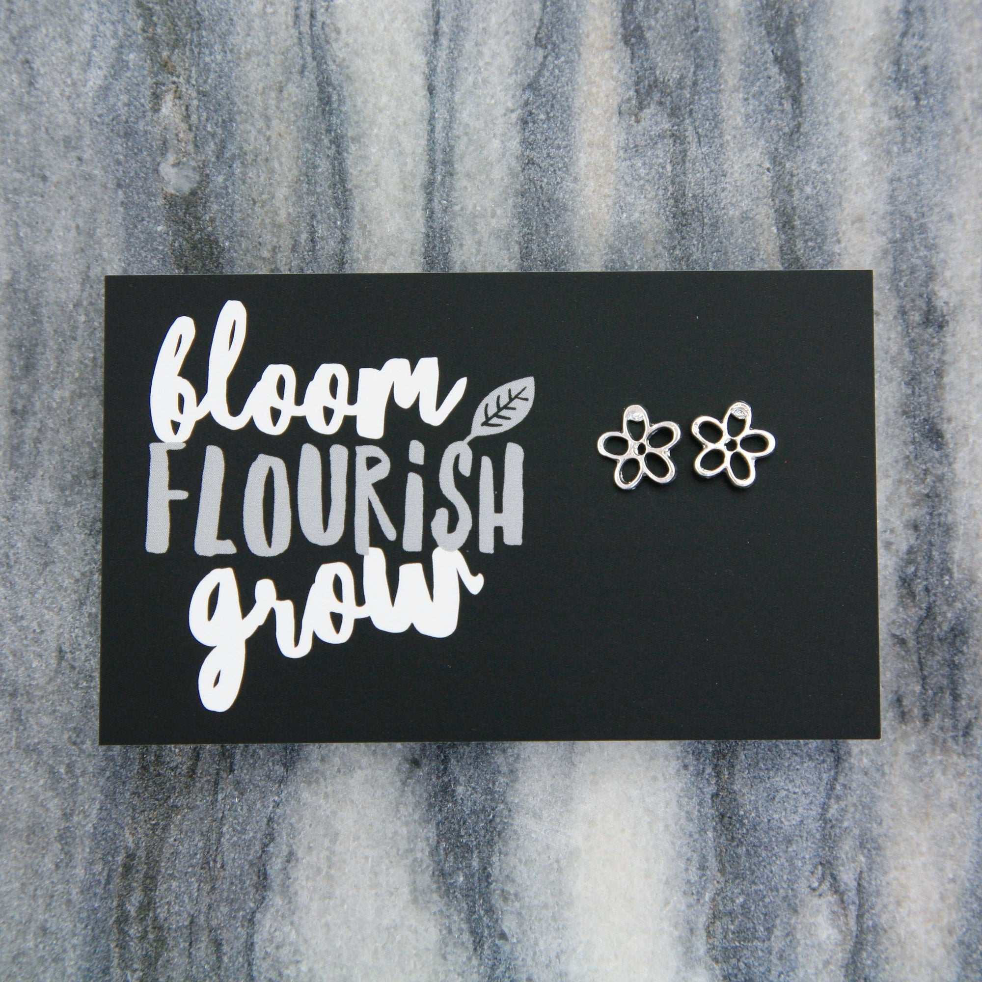 Forever Spring - BLOOM FLOURISH GROW! Daisy Earring Studs - Silver (9717)
