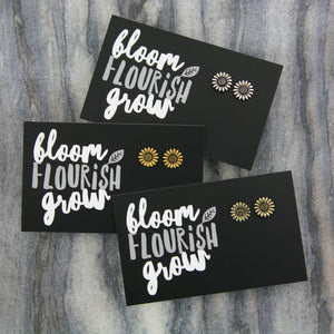 Spring Collection - BLOOM FLOURISH GROW! Sunflower Earring Studs - Bright Gold (9702)