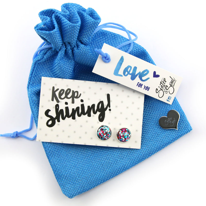 Blue KEEP SHINING Scrunchie Gift Bundle (L10)