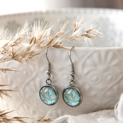 BOHO Collection - Girl You're Amazing - Stainless Steel Vintage Silver Dangle Earrings - Tranquil (8315-R)