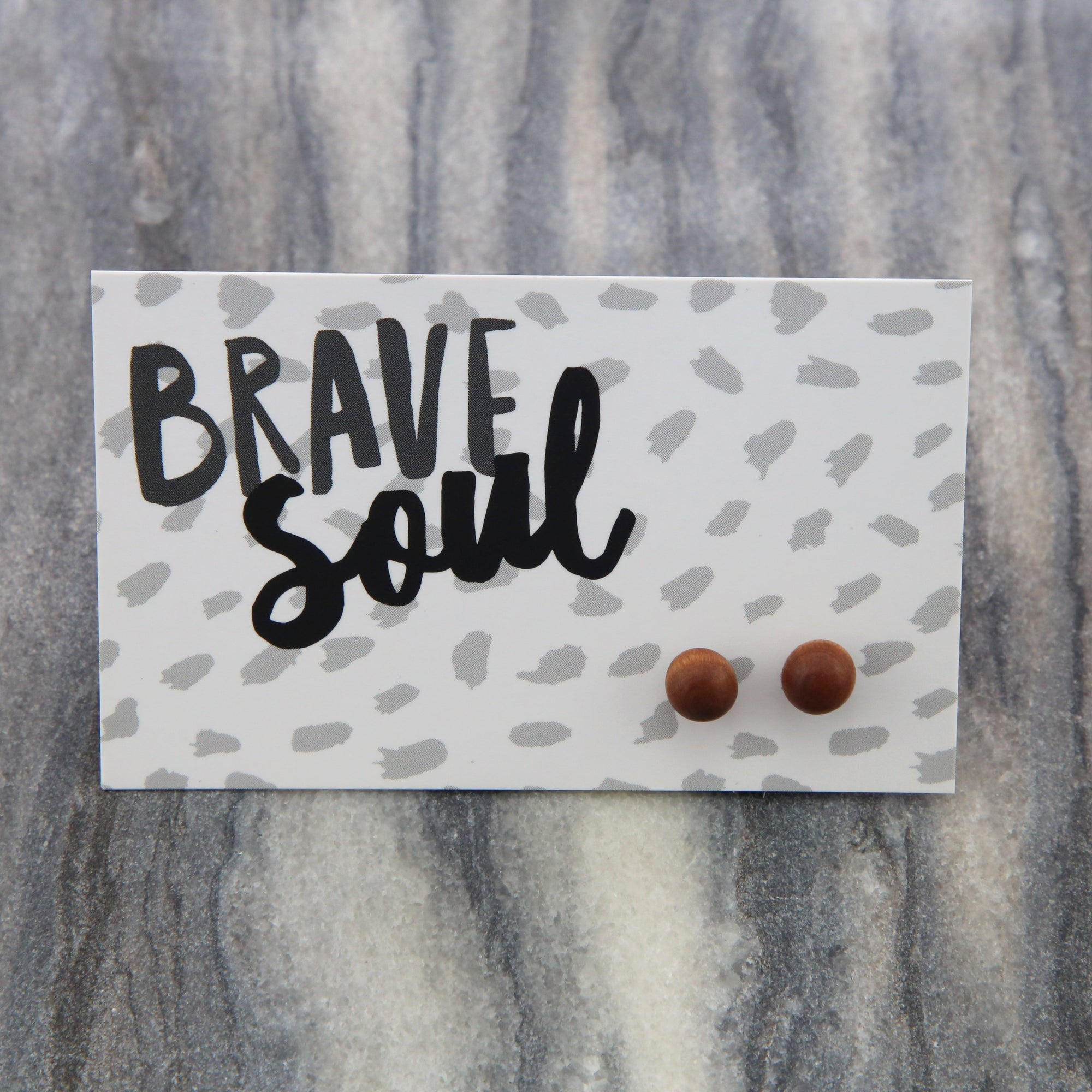 Brave Soul - Tiny Timber Ball Earrings (9304)