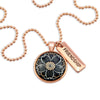 Heart & Soul Collection - Rose Gold ' FRIENDSHIP ' Necklace - Buttercup (10544)