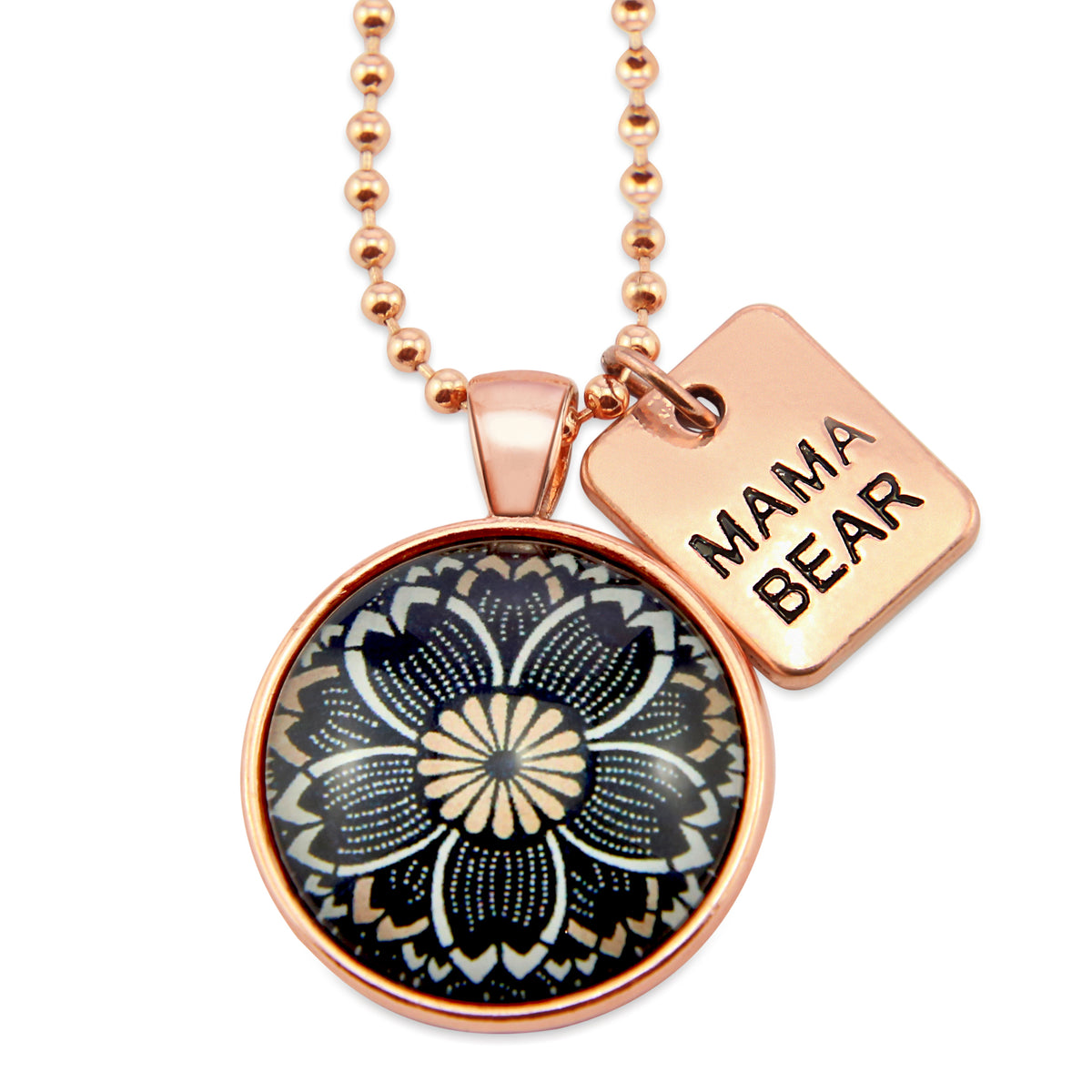 Heart & Soul Collection - Rose Gold ' MAMA BEAR ' Necklace - Buttercup (11063)