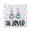 Heart & Soul Collection - So Loved - Stainless Steel Silver Dangle Earrings - Butterfly Flutter (9611)