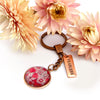 PINK COLLECTION - Vintage Rose Gold 'FEARLESS'  Keyring - Butterfly Patch (10542)