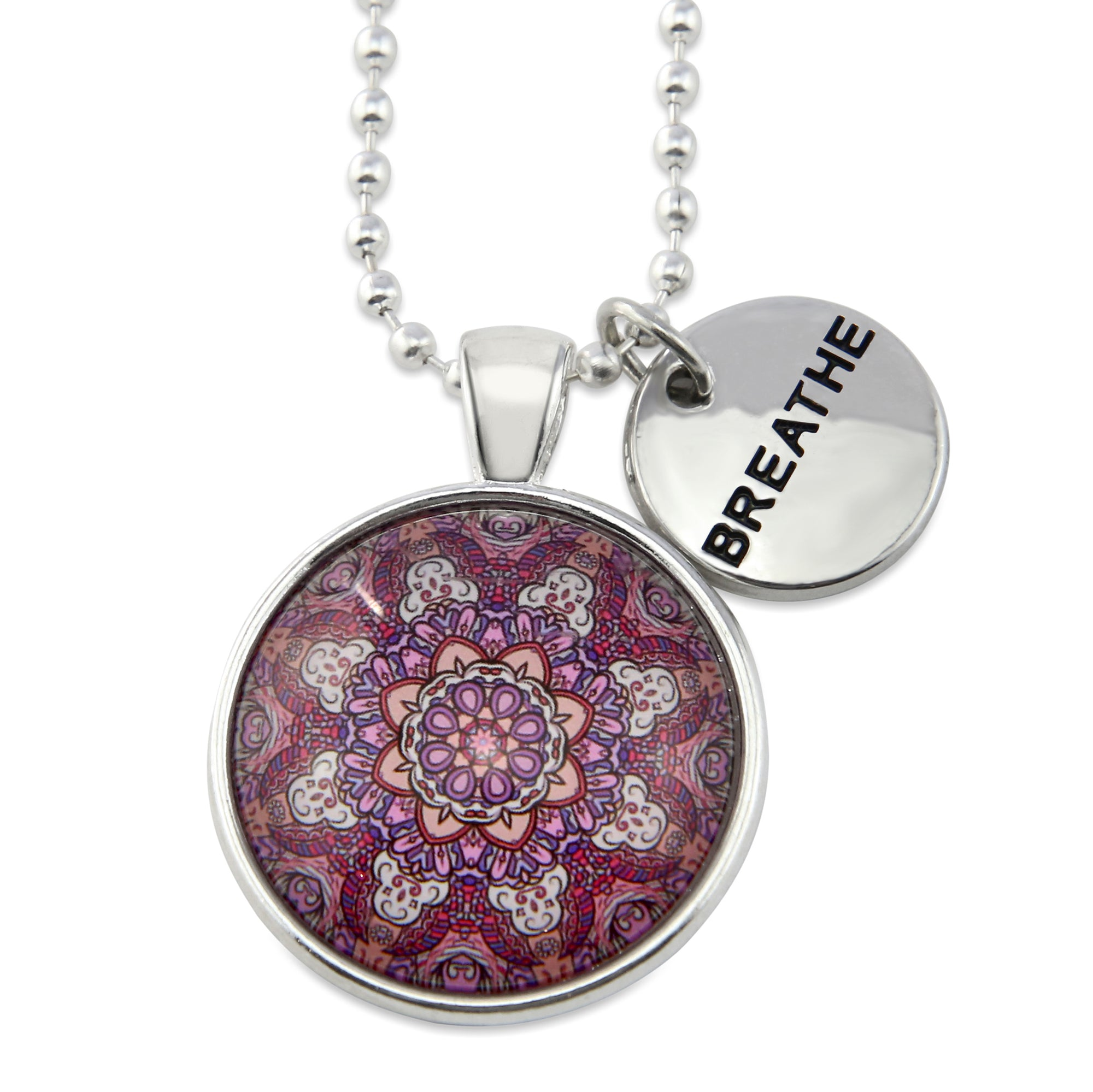 BOHO Collection - Bright Silver 'BREATHE' Necklace - Daybreak (10112-A)