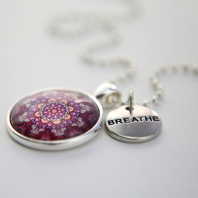 BOHO Collection - Bright Silver 'BREATHE' Necklace - Daybreak (10112)