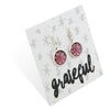 BOHO Collection - Grateful - Stainless Steel Bright Silver Dangle Earrings - Daybreak (9810)