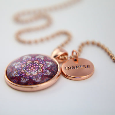 BOHO Collection - Rose Gold 'INSPIRE' Necklace - Daybreak (10135)