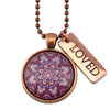 BOHO Collection - Vintage Copper 'LOVED' Necklace - Daybreak (10251)