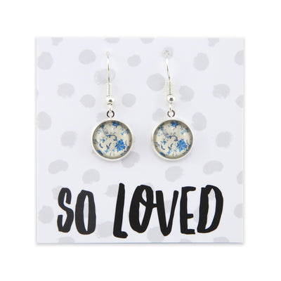 Heart & Soul Collection - So Loved - Stainless Steel Bright Silver Dangle Earrings - DiVine (9901)