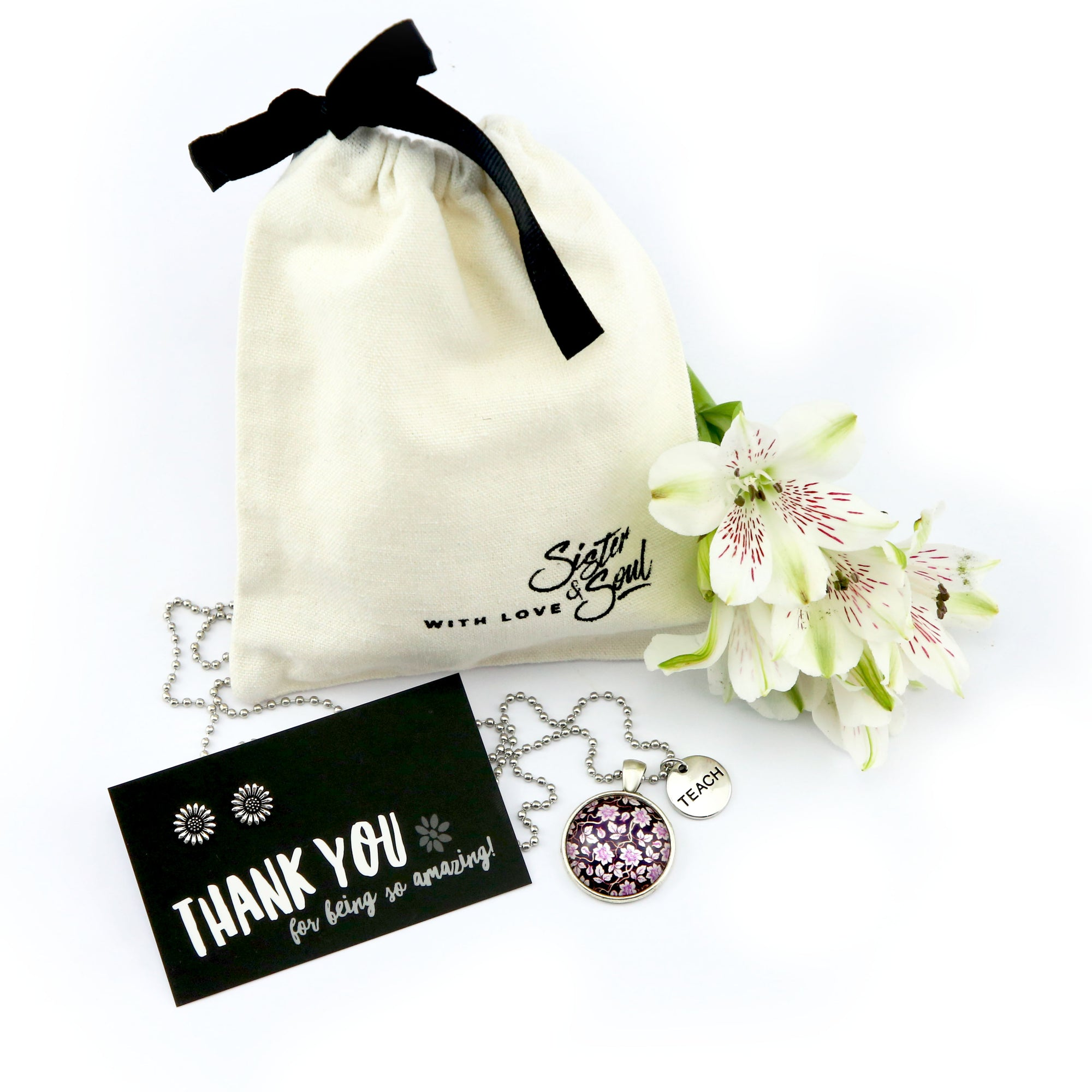 The Perfect Teacher Gift! Thank you for being Amazing! TEACH Purple Divine Gift Pack Bundle (B11)