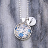 China Blues  ' FAMILY ' Necklace in Bright Silver - DiVine (10961)