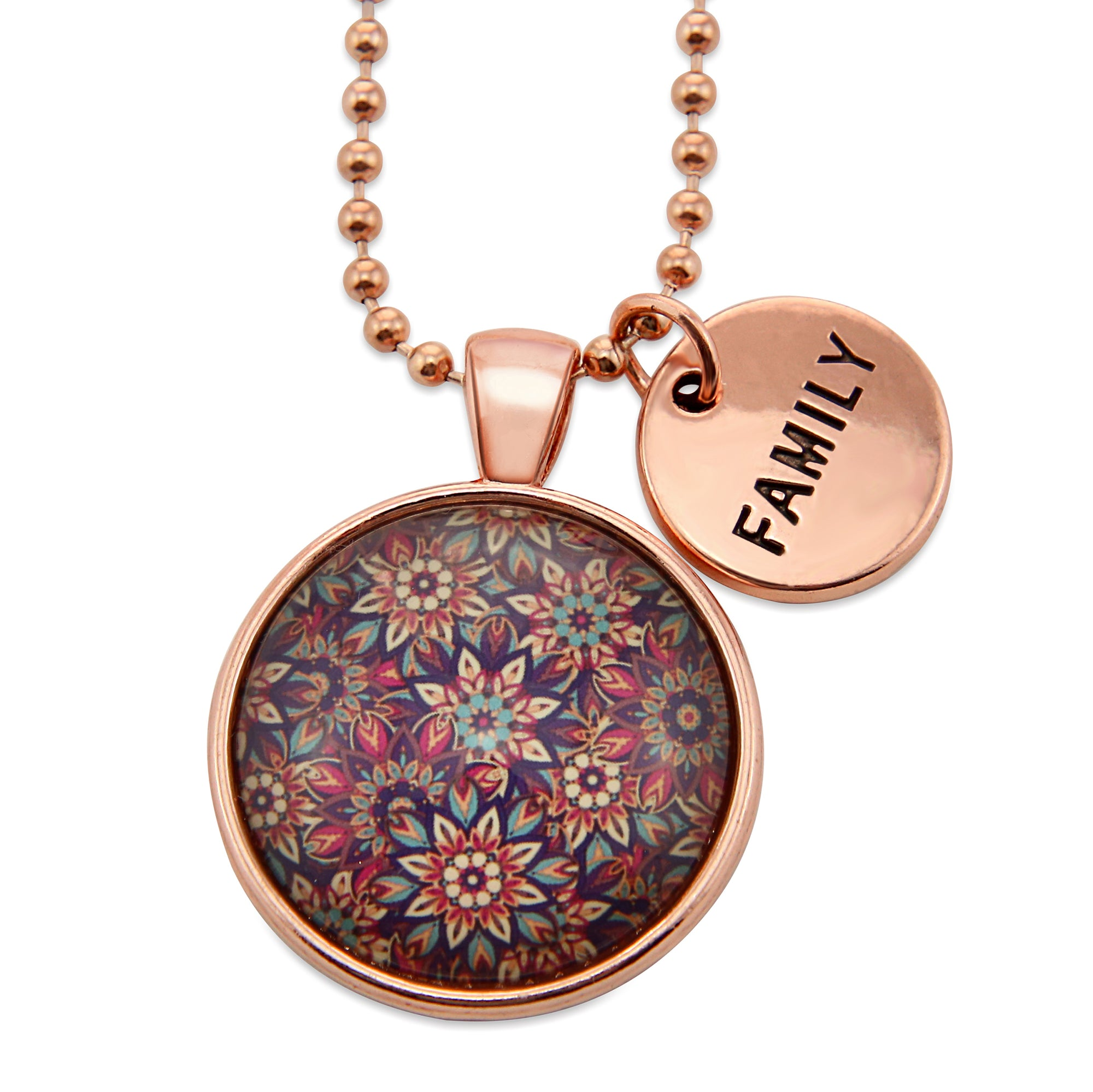BOHO Collection - Rose Gold 'FAMILY' Necklace - Fiera (11422)
