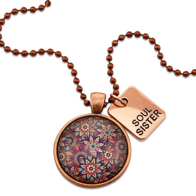 BOHO Collection - Vintage Copper 'SOUL SISTER' Necklace - Fiera (10241)