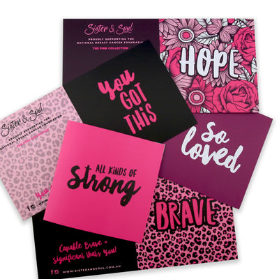 GIFT CARDS Pk 5 With Envelopes - Pink Collection Pack (7005)