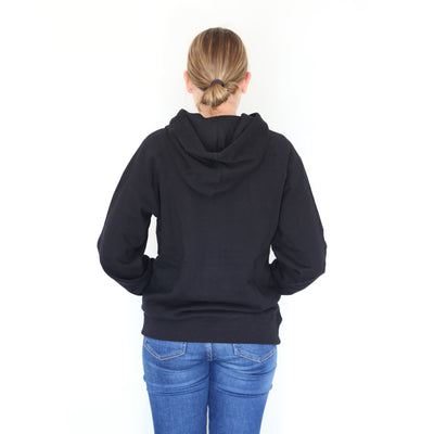 Grateful HOODIE - Black with Charcoal Shimmer Print