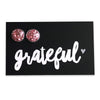 SPARKLEFEST - Grateful! Glitter Resin Earrings set in Silver - Pretty Pink (8091)
