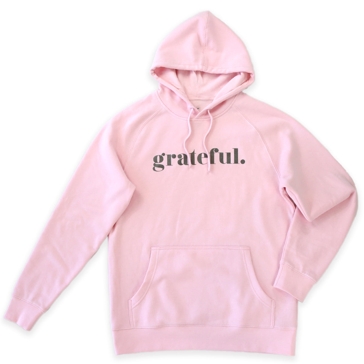 Grateful HOODIE - Pink with Charcoal Shimmer Print