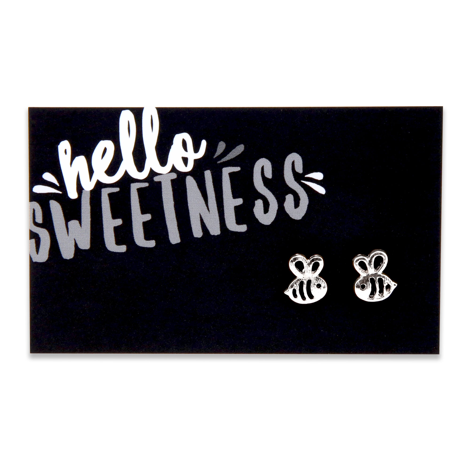 Hello Sweetness! Bumble Bee Earring Studs - Silver (9210)