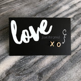 Love Just For You ' XO ' Gold Stud Earrings (9603)