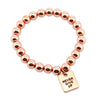 The STRONG WOMEN Collection Hematite Bracelet 8mm Beads with word charm - Rose Gold Rebel