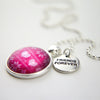 CHRISTMAS SWEATER - Bright Silver 'FRIENDS FOREVER' Necklace - Jolly (10721-A)