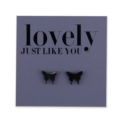 Stainless Steel Earring Studs - Lovely Just Like You - BUTTERFLIES