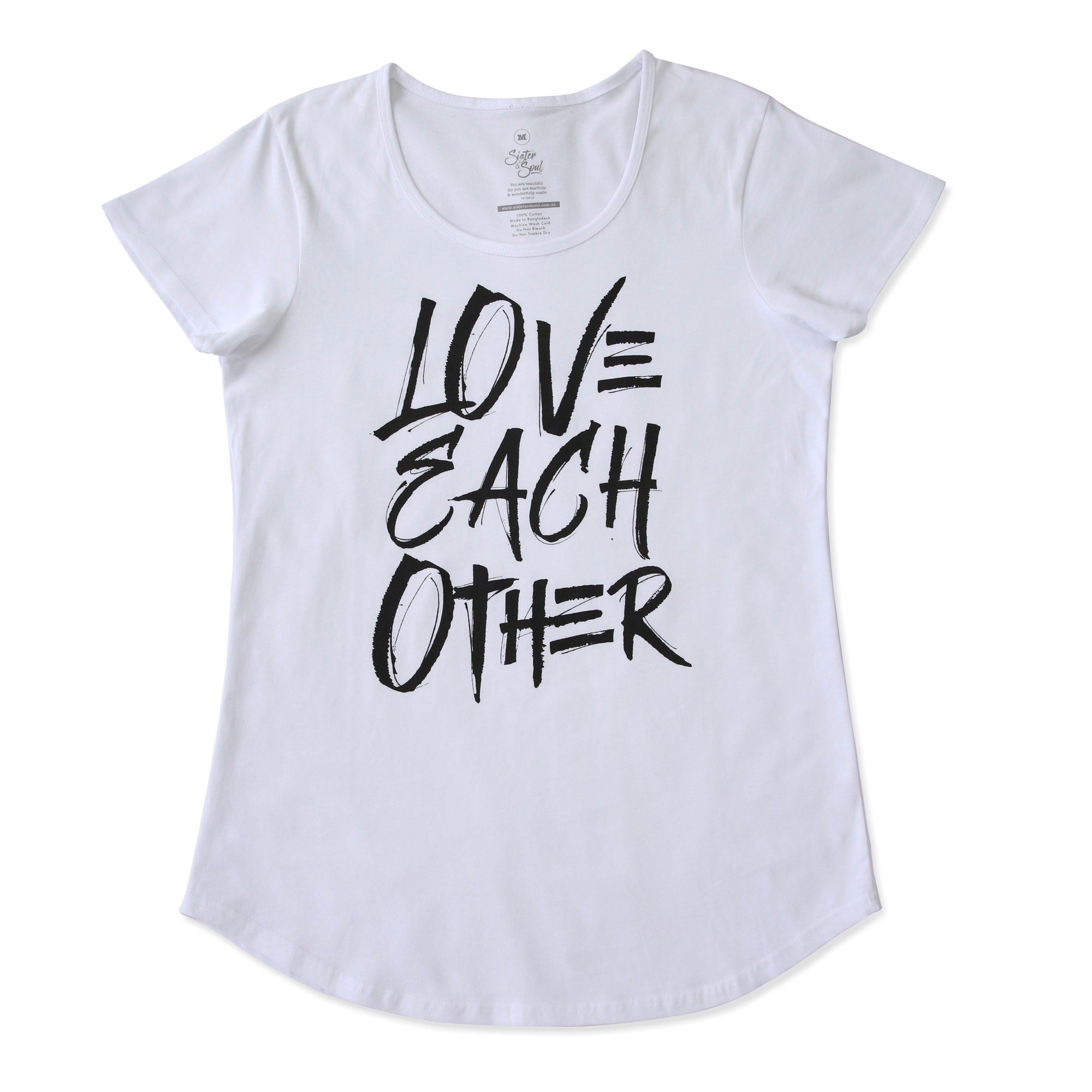 Love Each Other Tee - White Scoopy