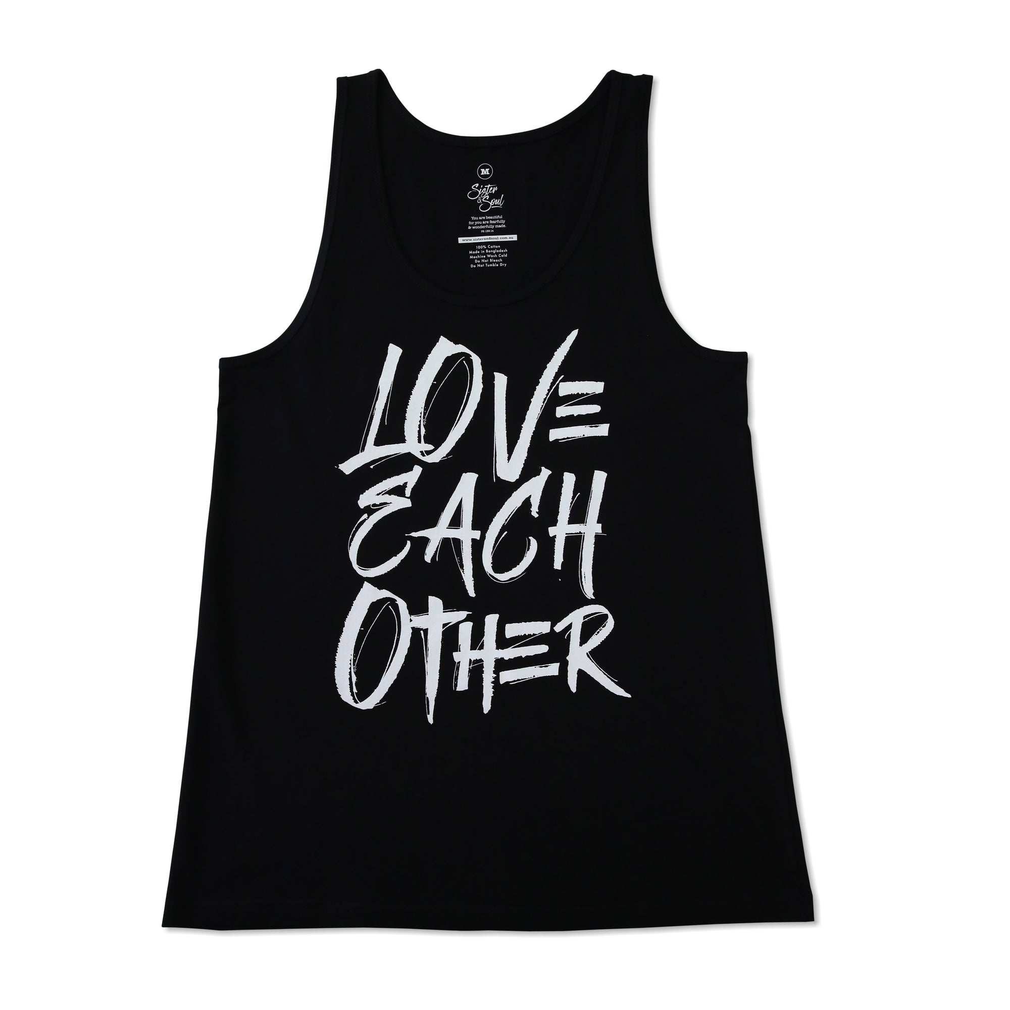 LOVE EACH OTHER Tank - Black