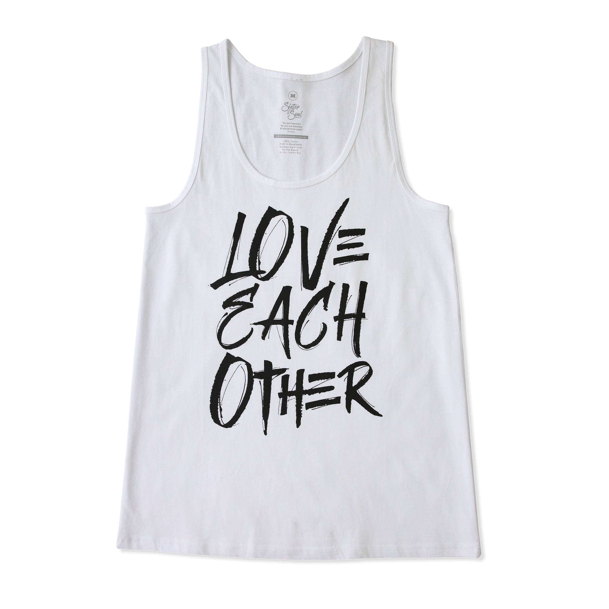 Love Each Other Tank - White