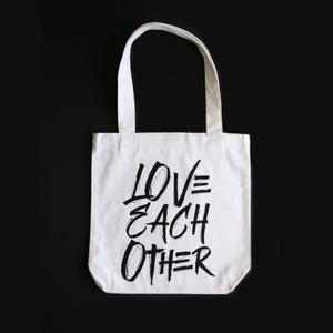 LOVE EACH OTHER - Canvas Tote Bag - Cream