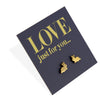 Stainless Steel Earring Studs - LOVE just for you - TINY BUNNIES