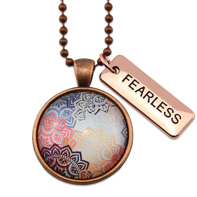 BOHO Collection - Vintage Copper 'FEARLESS' Necklace - Maya (11262)