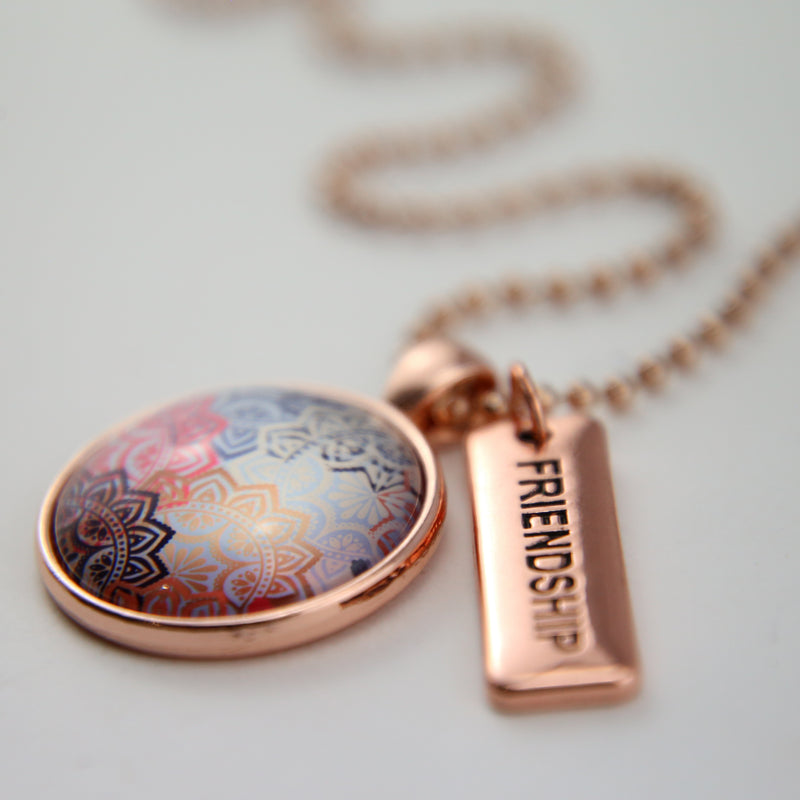 BOHO Collection - Rose Gold 'FRIENDSHIP' Necklace - Maya (11223)