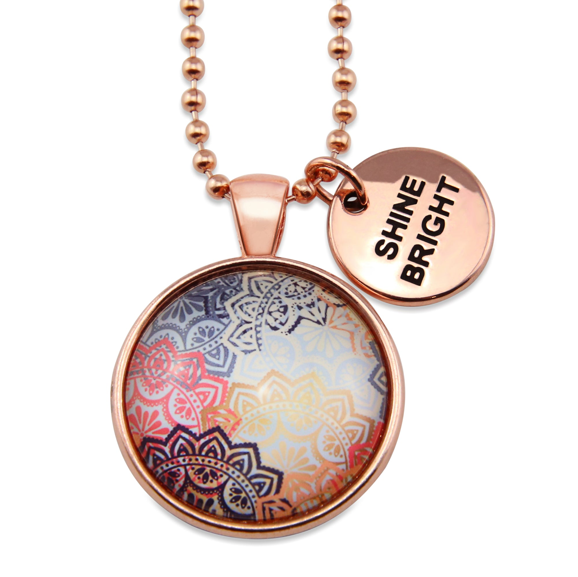 BOHO Collection - Rose Gold 'SHINE BRIGHT' Necklace - Maya (10164)