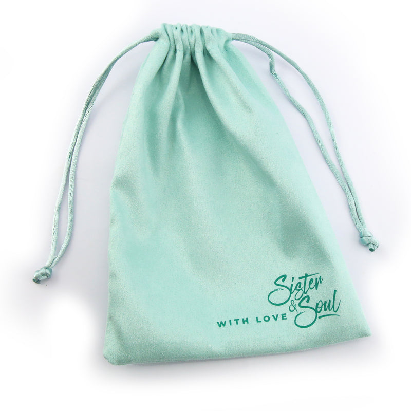 Sister & Soul Mint Aqua Soft Velour Gift Bag - Create Your Own Bundle