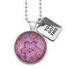 PINK COLLECTION - Bright Silver 'YOU GOT THIS' Necklace - Pink Ice (10734)