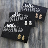 HELLO SWEETNESS Pineapple - Rose Gold Plated Stud Earrings (9813)
