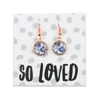 BOHO Collection - Girl You're Amazing - Stainless Steel Rose Gold Dangle Earrings - Rhapsody (9308)