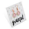 BOHO Collection - GRATEFUL - Stainless Steel Rose Gold Dangle Earrings - Soft Feathers (8705-R)
