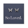 Stainless Steel Earring Studs - So Loved - BUTTERFLY BEAUTIES