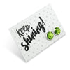 SPARKLEFEST - Keep Shining - Bright Silver Stud Earrings - Lime Pop (2102-C)