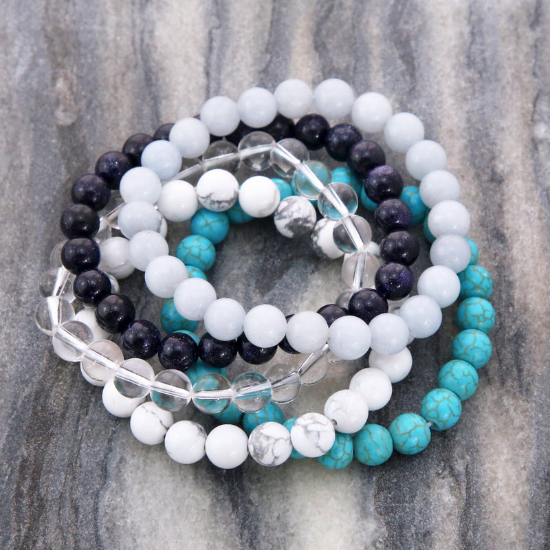 Stacker Bracelets - 8mm Beads