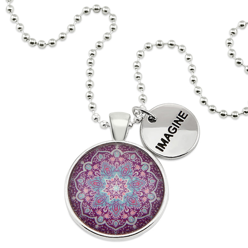 BOHO Collection - Bright Silver ' IMAGINE ' Necklace - Star Gazer (10562)