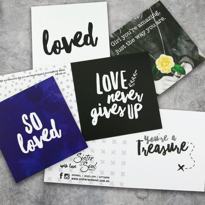 GIFT CARDS Pk 5 With Envelopes - You're a Treasure Pack