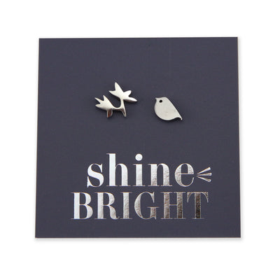 Stainless Steel Earring Studs - Shine Bright - BIRD & BRANCH