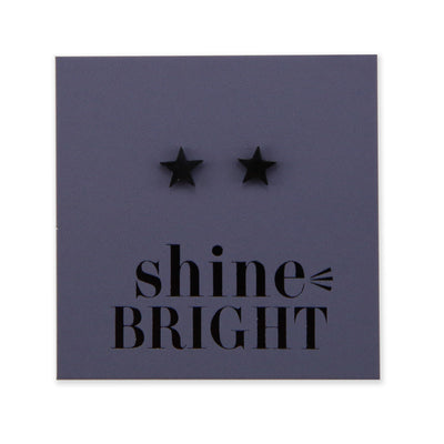 Stainless Steel Earring Studs - Shine Bright - STAR