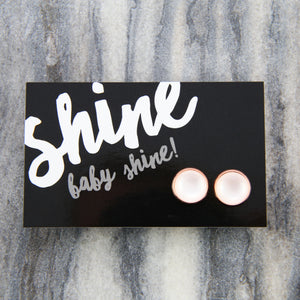 Shine Baby Shine! White Pearl Resin in Rose Gold  (8082)