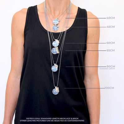Ball Chain Necklace 100cm - Longer Length (Chain only)